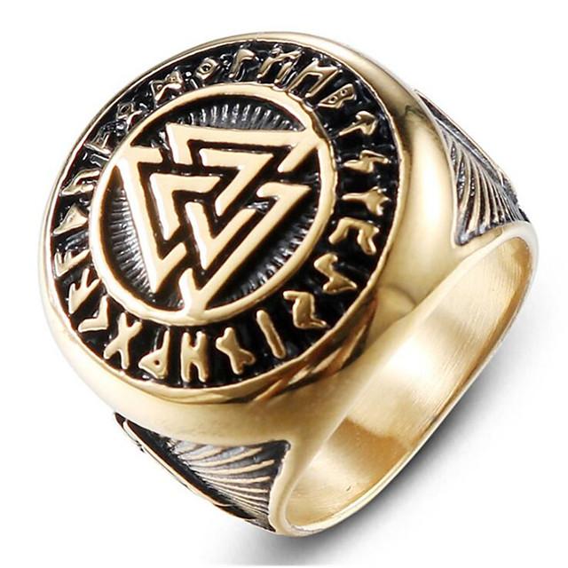 Herren Ring Retro Gold Silber Titanstahl Klasse Zauber Modisch Militär schottisch 1pc 8 9 1 11 12 / Herrn