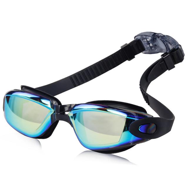 Lunettes de natation Etanche Antibrouillard Pour Adulte résine Silikon Polycarbonate Noir Bleu Rose clair Gris clair