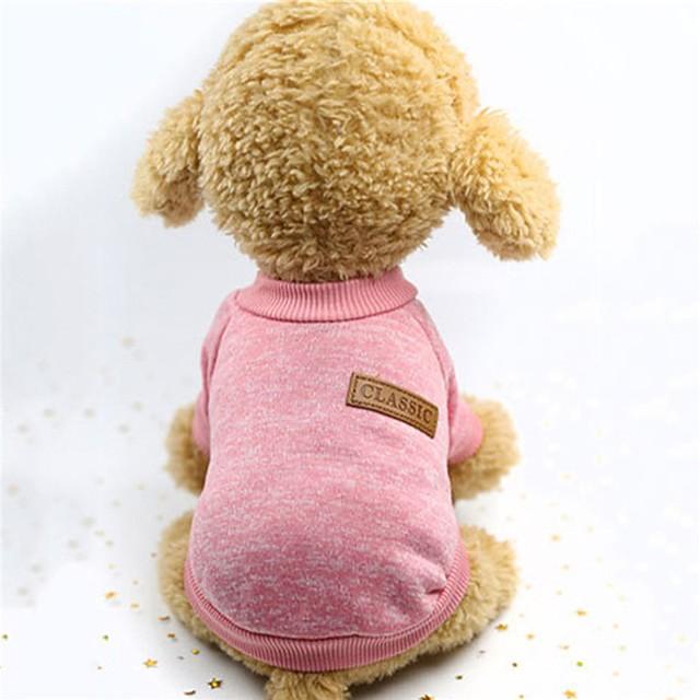 Koirat Liivi Pentu Vaatteet Yhtenäinen Pidä Lämmin Punottu / nauha Talvi Koiran vaatteet Pentu Vaatteet Koiran asut Pinkki Khaki Harmaa Asu yrityksestä Girl and Boy Dog Pehmustettu kangas S M L