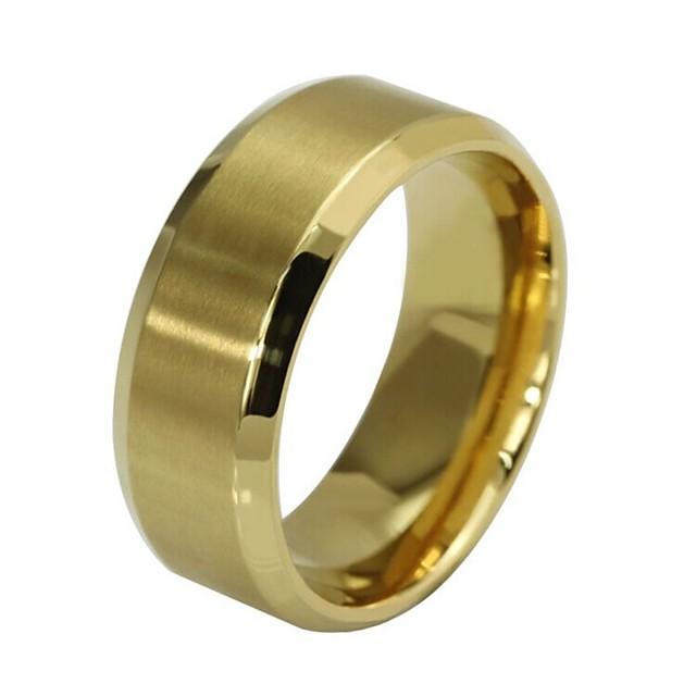 Ring Retro Rotgold Schwarz Gold Edelstahl Glauben Einfach Hip-Hop Ingenieurwesen 1pc 6 7 8 9 1 / Herrn / Verlobungsring