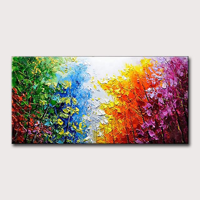 Hang oslikana uljanim bojama Ručno oslikana - Sažetak Pejzaž Klasik Moderna Bez unutrašnje Frame
