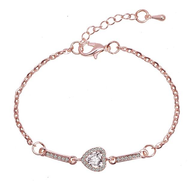 Pentru femei Brățări cu Legături Clasic Iubire Stilat Simplu Romantic Cute Stil Aliaj Bijuterii brățară Roz auriu / Argintiu Pentru Zi de Naștere Zilnic Oficial