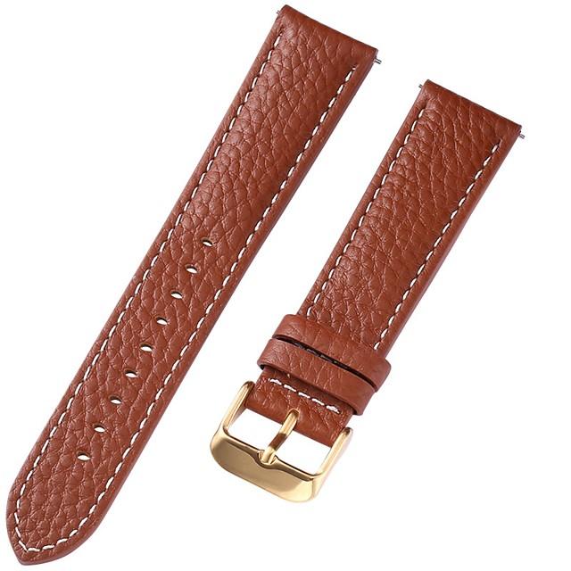 Cuir véritable / Cuir / Poil de veau Bracelet de Montre  Marron 20 cm / 7,9 pouces 1 cm / 0,39 pouces / 1,2 cm / 0,47 pouces / 1,3 cm / 0,5 pouces