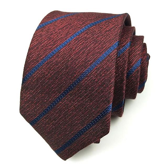 Homme Travail Cravate Rayé