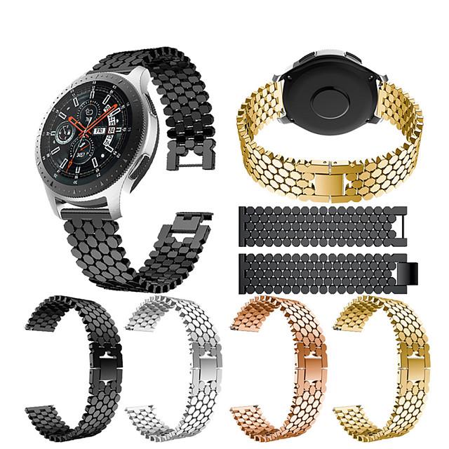 Ремешок для часов для Gear S3 Frontier / Gear S3 Classic / Samsung Galaxy Watch 46 Samsung Galaxy Спортивный ремешок / Дизайн украшения Нержавеющая сталь Повязка на запястье