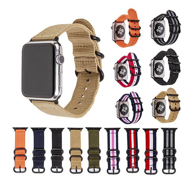 스마트 시계 밴드 용 Apple  iWatch 1 pcs 스포츠 밴드 나일론 바꿔 놓음 손목 스트랩 용 애플 워치 시리즈 SE / 6/5/4/3/2/1 38mm 40mm 42mm 44mm
