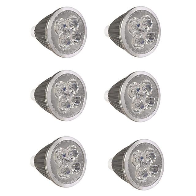 6pcs 5 W LED-spotlampen 500 lm GU10 GU10 5 LED-kralen Krachtige LED Feest Decoratief Kerst Bruiloft Decoratie Warm wit Koel wit 85-265 V / RoHs