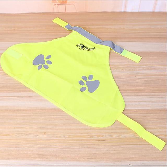Honden Katten Gilet Print Eenvoudig Normale Casual / Dagelijks Hondenkleding Puppy kleding Hondenoutfits Geel Kostuum voor Girl and Boy Dog Polyesteri