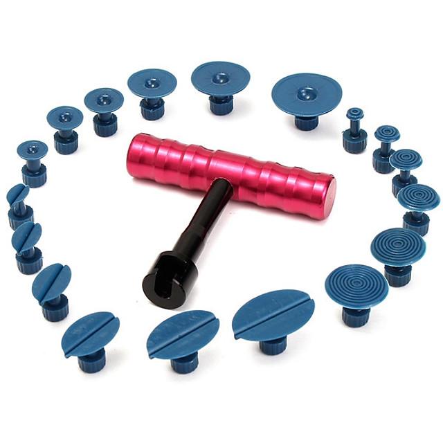 자동차 덴트 수리 풀러 페인트 제거 도구 18 탭과 핸들 막대 도구