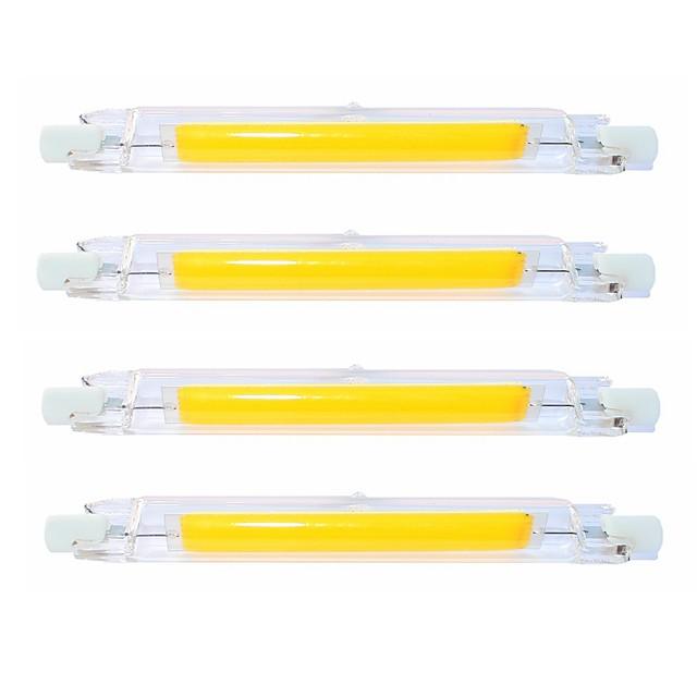 4pcs 9 W Tubes Fluorescents 900 lm R7S T 1 Perles LED COB Imperméable Rotatif Intensité Réglable Blanc Chaud Blanc Froid 220-240 V