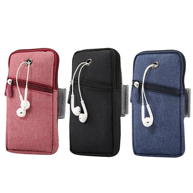 حالة 6.5 بوصة لحامل بطاقة عالمية حقيبة الخصر / waistpack الصلبة أكسفورد القماش الملون الصلبة