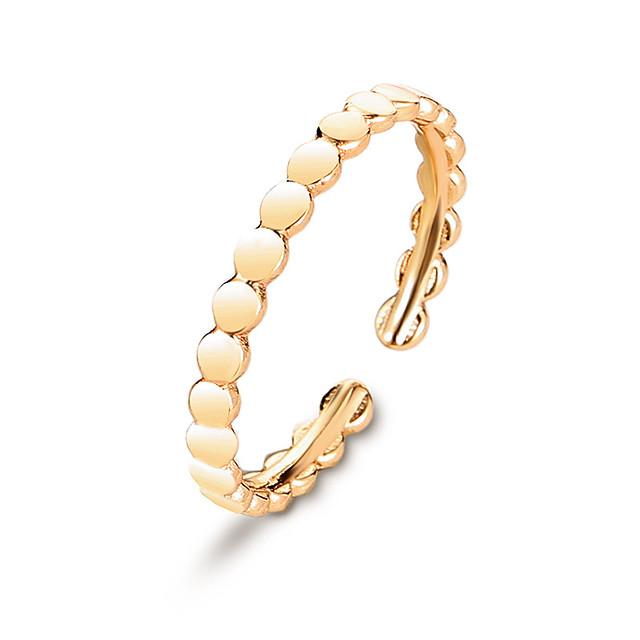 Inel deschis Clasic Auriu Argintiu Articole de ceramică Stilat 1 buc / Pentru femei