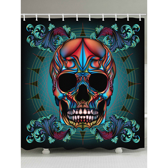 Bathroom Shower Curtains & Hooks Country Polyester Waterproof
