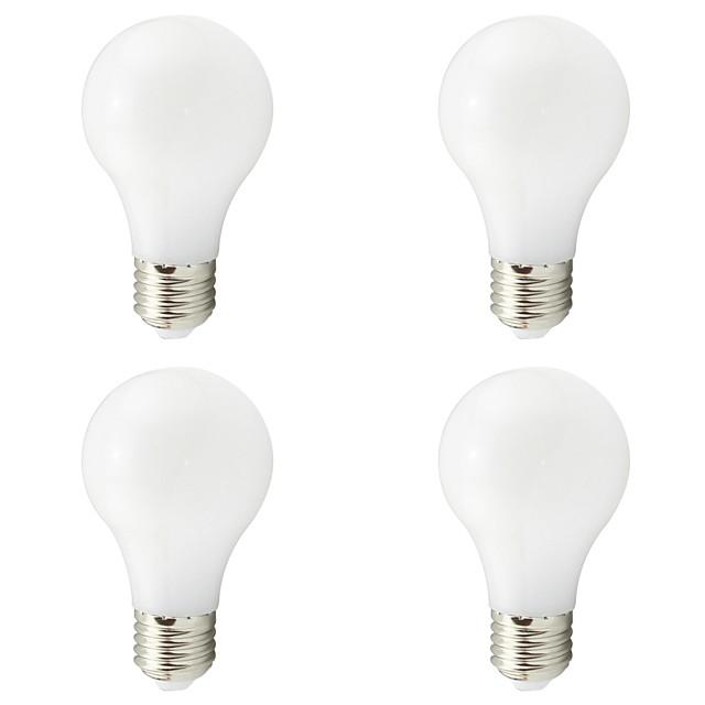 4pcs 4 W Ampoules Globe LED 400-500 lm E26 / E27 A19 20 Perles LED SMD Blanc Chaud Blanc 12-24 V / RoHs