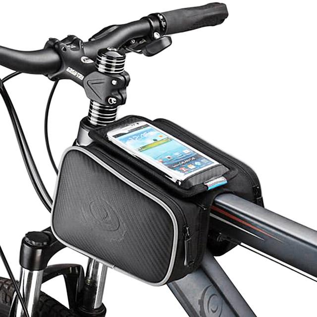 ROSWHEEL Telefon mobil Bag Genți Cadru Bicicletă 5.5 inch Ecran tactil Ciclism pentru Samsung Galaxy S4 iPhonr 5/5s iPhone 8/7/6S/6 Negru Ciclism / Bicicletă / iPhone X / iPhone XR / iPhone XS