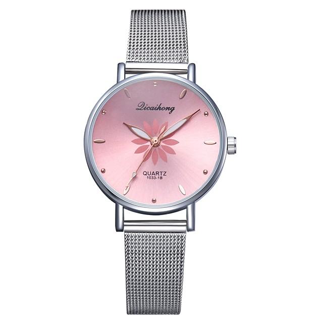 Pentru femei Quartz Piața de ceas Quartz Stl Casual Ceas Casual Analog Alb Negru Piersică / Un an / Un an