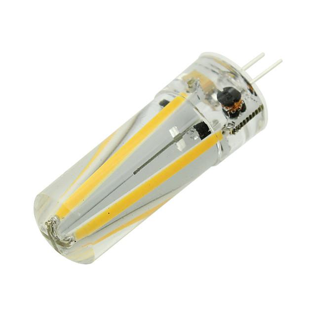 1pc 4 W LED à Double Broches 300 lm G4 T 4 Perles LED COB Décorative Décoration de mariage de Noël Blanc Chaud Blanc Froid 12 V / RoHs