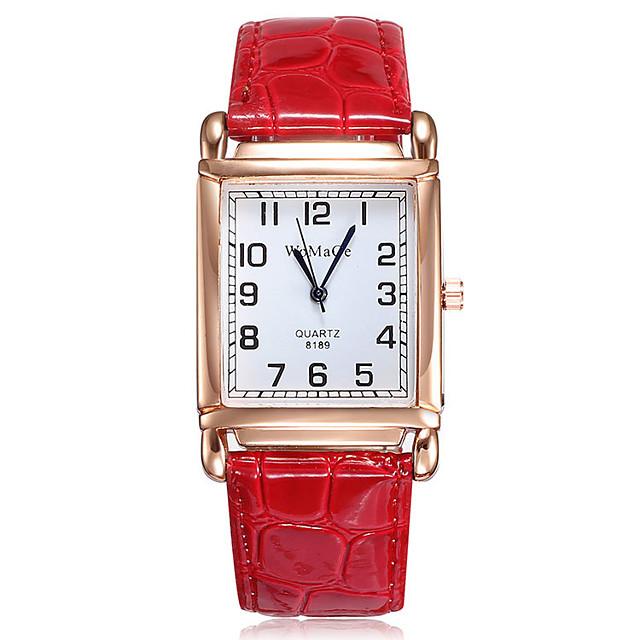 Kadın's Quartz Quartz Resmi Stil Zarif Gündelik Saatler Analog Beyaz Siyah YAKUT / Bir yıl / Paslanmaz Çelik / PU Deri / Bir yıl