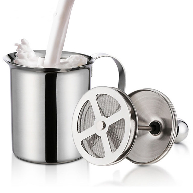 cremă dublă de lapte cremă din oțel inoxidabil lapte pentru spumă pentru cappuccino lapte de ciocolată ouă beater bucătărie unealtă gadgets