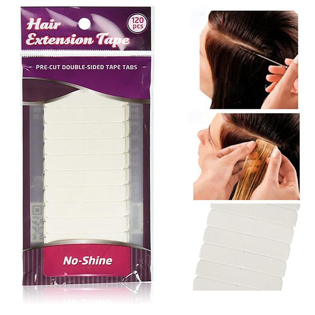 10 * 12pcs / lot blanc pas de ruban adhésif extension de cheveux brillance collage double face ruban imperméable à l'eau pour extension de cheveux / perruque de lacet / toupee