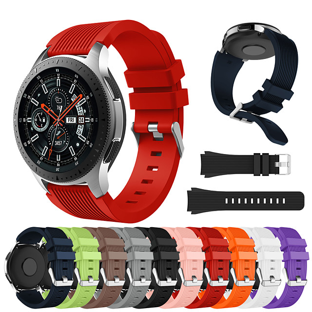 smartwatch band for samsung galaxy 46 / gear s3 / s3 classic / s3 frontier / gear 2 r380 / 2 neo r381 / sport band mote behagelig silikon armbånd stropp armbånd 22mm