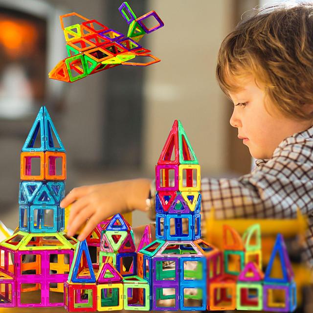 Carreaux magnétiques Blocs de Construction Jouet Educatif Kit de construction de modèles Blocs magnétiques 3D Jouets Aimantés Anti-Stress 30-199 pcs Jouet Vapeur compatible ABS Legoing Pour les