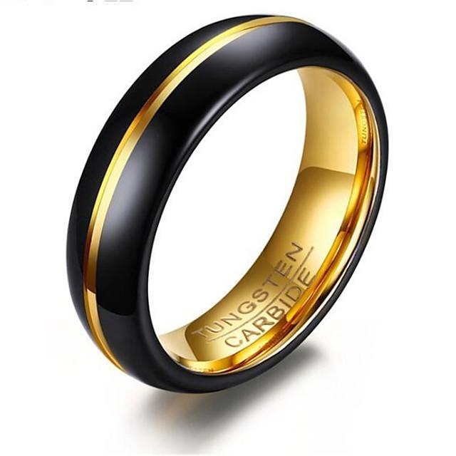 ผู้ชาย แหวน คลาสสิค สีทอง-ดำ ทังสเตนเหล็ก Stylish 1pc 7 8 9 10 11 / สำหรับผู้ชาย