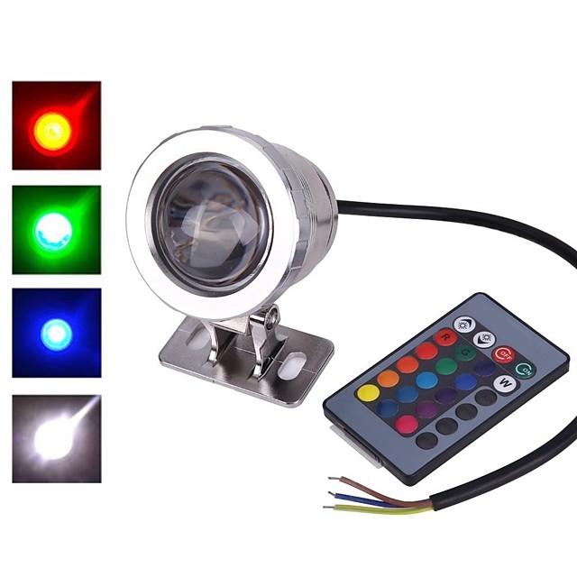 1 pc 10 W Projecteurs LED Imperméable Télécommandé Capteur infrarouge RGB 12 V 85-265 V Eclairage Extérieur Cour Jardin 1 Perles LED