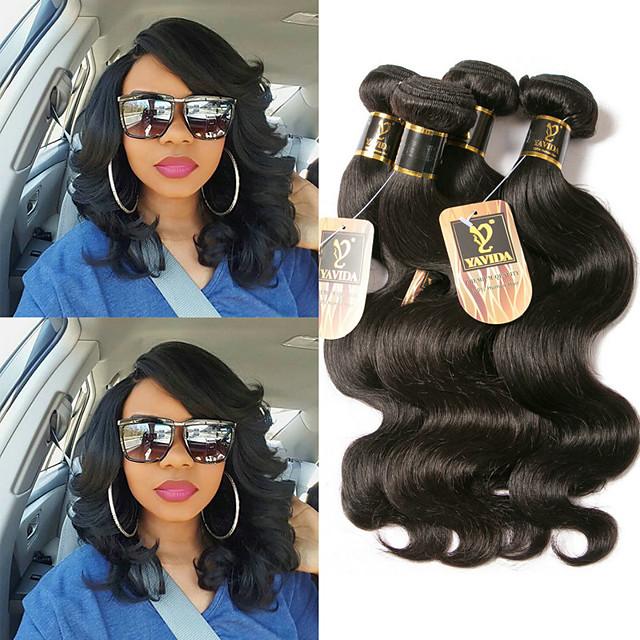 3 svazky Vlasy na vlasy Brazilské vlasy Vlnité Rozšíření lidský vlas 100% Remy vlasy Weave svazky Lidské vlasy Vazby Bundle Hair Příčesky z pravých vlasů 8-28 inch Přírodní barva Nejlepší kvalita