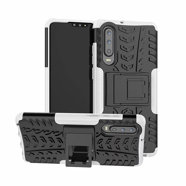 Coque Pour Huawei Huawei P30 / Huawei P30 Pro / Huawei P30 Lite Antichoc / Avec Support Coque Couleur Pleine Dur Plastique