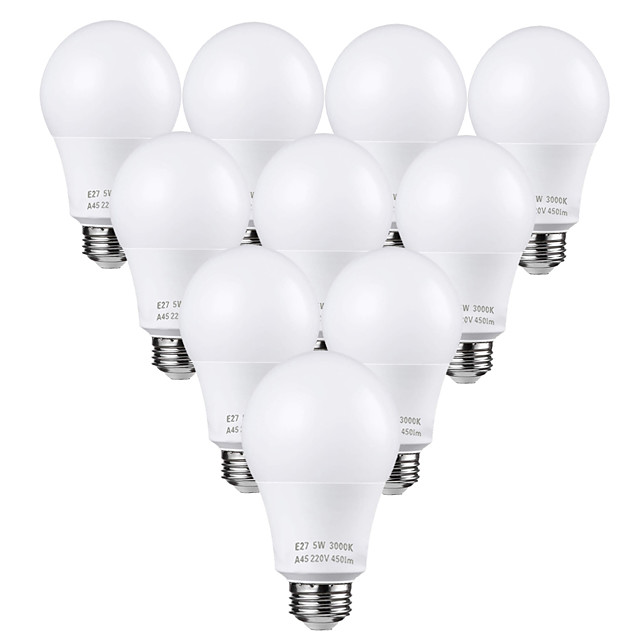 10 pièces 5 W Ampoules Globe LED 450 lm E26 / E27 25 Perles LED SMD 2835 Adorable Blanc Chaud Blanc Froid 110-220 V