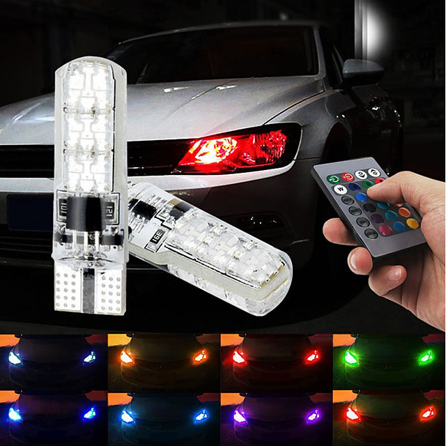 Automatique LED Phare arrière / Feux de freinage / Feux de recul T10 / W5W Ampoules électriques SMD 5050 1.32 W 6 Pour Universel Toutes les Années 2pcs