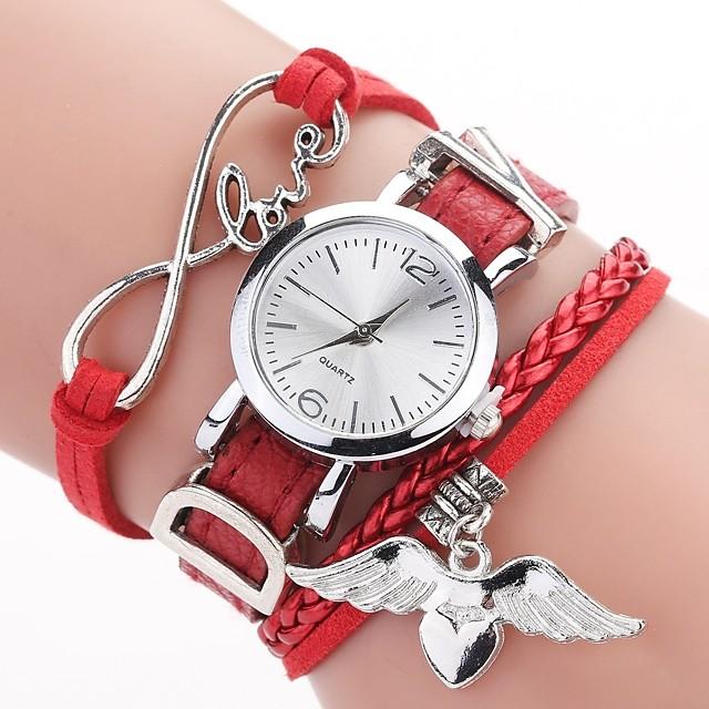 Kadın's Bilezik Saat Quartz Şık Örgülü Bohem Gündelik Saatler Analog Açık kahverengi Siyah YAKUT / Bir yıl / PU Deri / Bir yıl