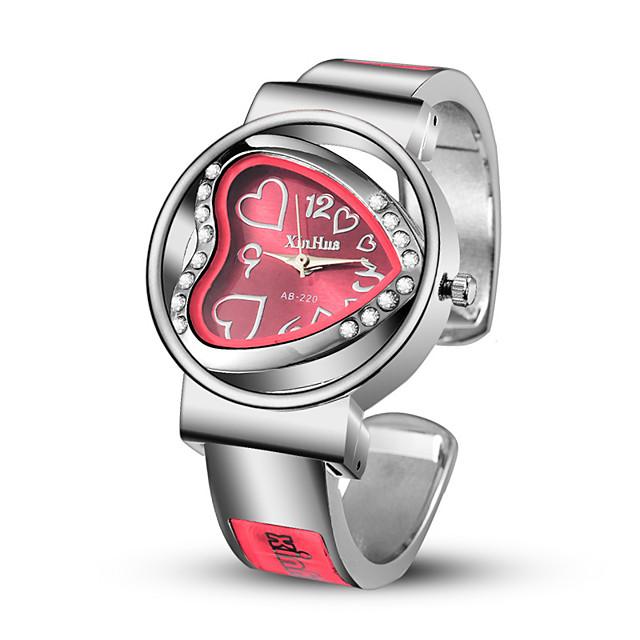 Dame Armbåndsur Quartz Heart Shape Hverdagsklokke Analog Hvit Svart Lilla / Imitasjon Diamant