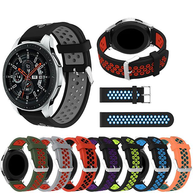 시계 밴드 용 Gear S3 Frontier / Gear S3 Classic / Samsung Galaxy Watch 46 Samsung Galaxy 스포츠 밴드 실리콘 손목 스트랩
