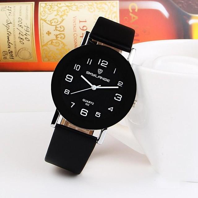Kadın's Quartz Quartz Minimalist Gündelik Saatler Analog Siyah+Beyaz Beyaz Siyah / Bir yıl / Paslanmaz Çelik / PU Deri / Bir yıl