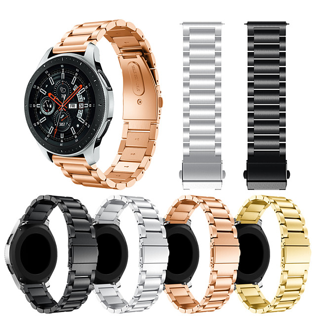 Klockarmband för Samsung Galaxy Watch 46 Samsung Galaxy Sportband / Klassiskt spänne Metall / Rostfritt stål Handledsrem