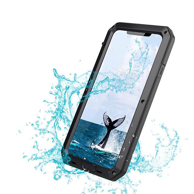 чехол для яблока iphone xs xs max противоударный пылезащитный водонепроницаемый корпус всего тела сплошной цвет твердого металла для iphone xr x 8 плюс 7 плюс 6 плюс 6 с 6
