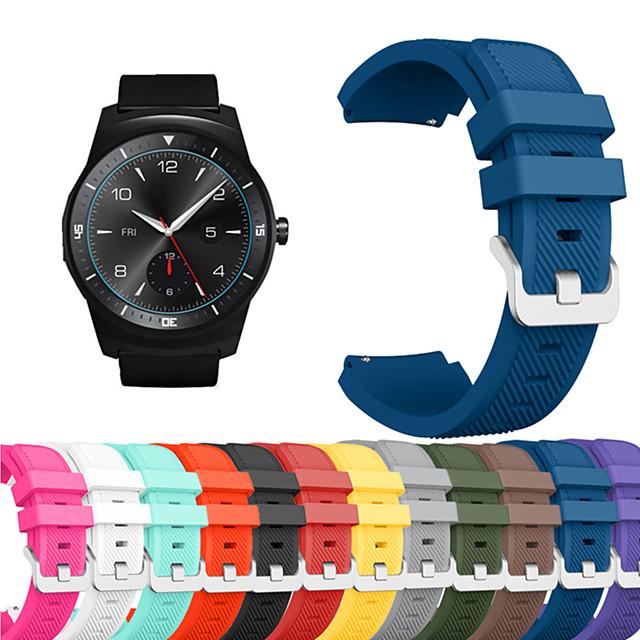 스마트 시계 밴드 용 LG 1 pcs 스포츠 밴드 실리콘 바꿔 놓음 손목 스트랩 용 LG G Watch W100 LG G Watch R W110 LG Watch Urbane W150 22mm