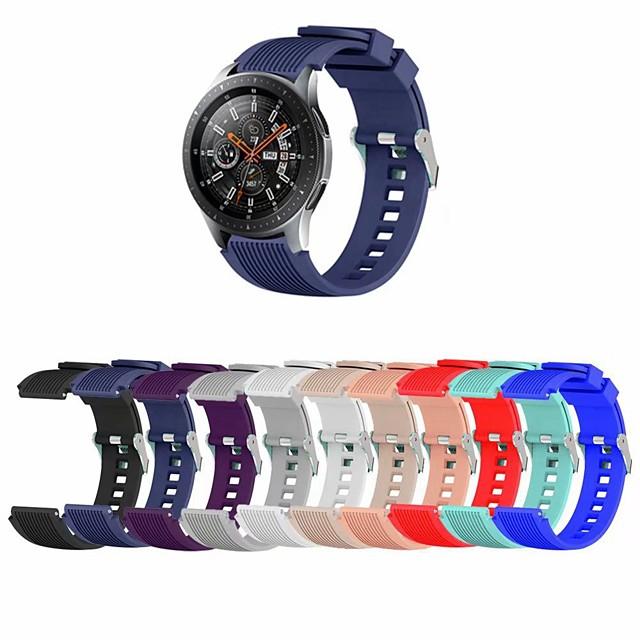Watch kapela pro Samsung Galaxy Watch 46 / Samsung Galaxy Watch 42 Samsung Galaxy Sportovní značka Silikon Poutko na zápěstí