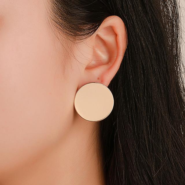 Femme Boucles d'oreille Clou Géométrique simple Classique Des boucles d'oreilles Bijoux Dorée / Noir / Argent Pour Quotidien Plein Air Vacances Travail 1 paire