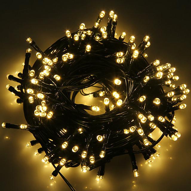 6m 스트링 조명 20 LED 1Set 마운팅 브래킷 1 세트 따뜻한 화이트 차가운 화이트 RGB 방수 태양의 파티 태양열 전원