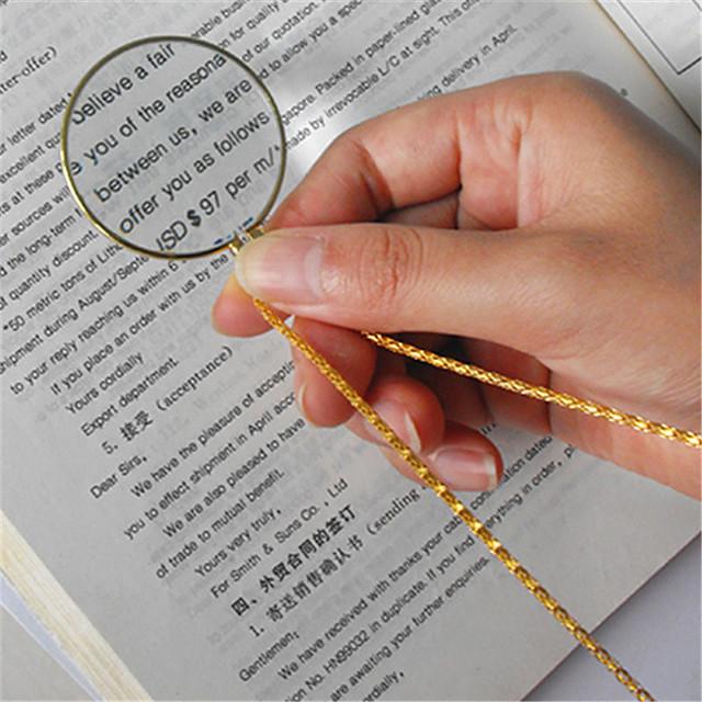 retro colier de utilitate monoclu lentilă cu lupă monedă lupă pandantiv pandantiv bijuterii de moda