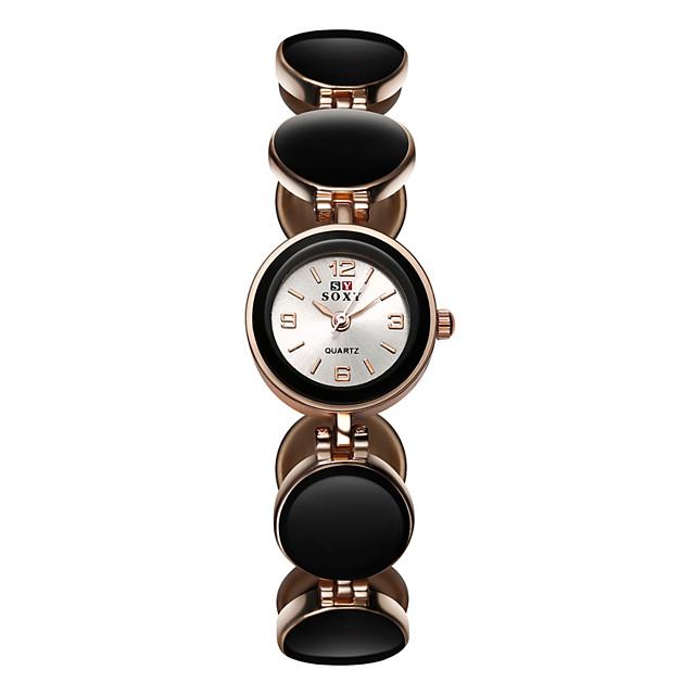 Pentru femei Quartz Quartz Stil Oficial Oțel inoxidabil Negru / Alb / Roșu Ceas Casual Analog Modă Elegant - Negru Roșu-aprins Roz Îmbujorat Un an Durată de Viaţă Baterie