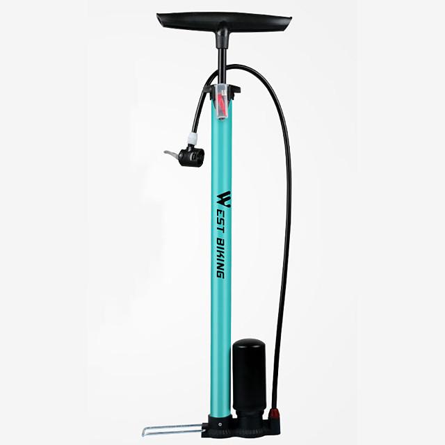 WEST BIKING® Bike Pumpe Biciklistička podna pumpa s vodomjerom Prijenosno Mala težina Izdržljivost Visokotlačni Precizna inflacija Za Cestovni bicikl Mountain Bike Biciklizam Steel Alloy Crn Plava