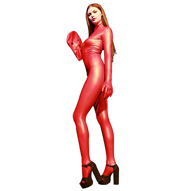 Costume Zentai strălucitoare Costume Cosplay Costum Pisică Fata de motociclete Adulți Latex Costume Cosplay Cosplay Halloween Pentru femei Mată Halloween Mascaradă / Leotard / Onesie / Mănuși / Mască