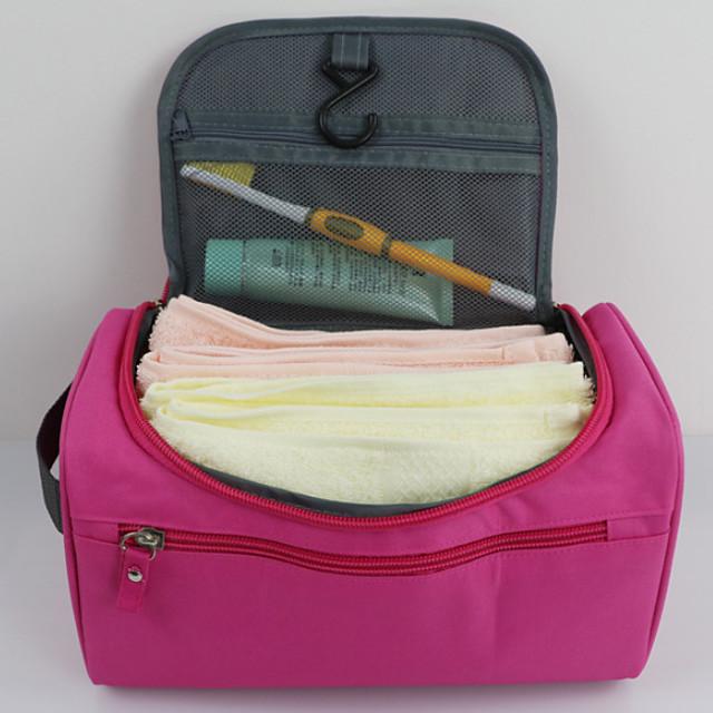 Rejsearrangør Toilettaske Kosmetik Taske Stor kapacitet Vandtæt Vaskbar Opbevaring under rejser Nylon Til Dagligdags Brug Rejse Dagligdags Brug Bærbar