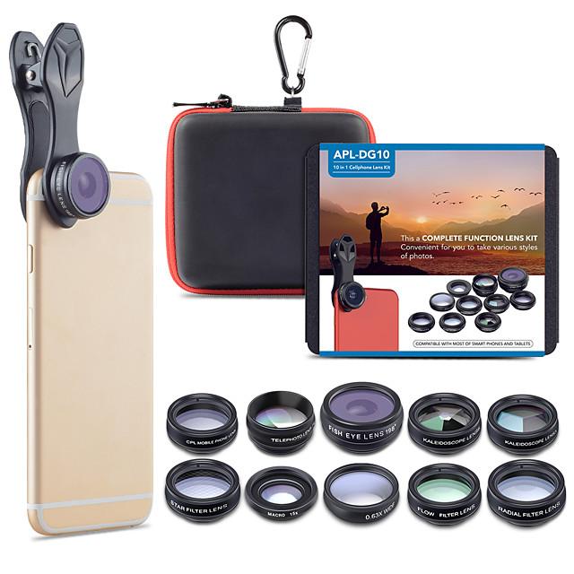 Obiettivo del telefono cellulare Obiettivo con filtro / Obiettivo Fish-Eye / Lunghezza focale della lente vetro / Lega di alluminio 2X 20 mm 15 m 198 ° Romantico / Fantastico