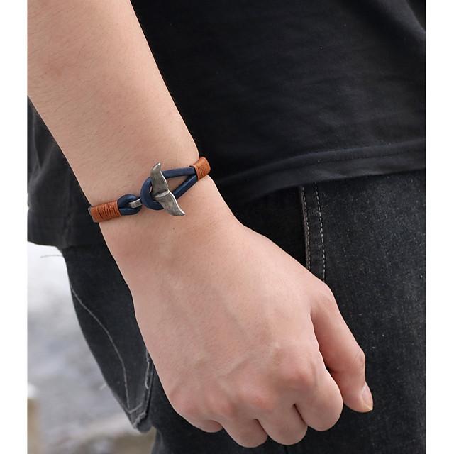 Bracelets en cuir Bracelet Homme Femme Rétro Cuir Poissons Rétro Vintage Mode Bracelet Bijoux Noir Marron Bleu pour Cadeau Quotidien Soirée Carnaval Plein Air