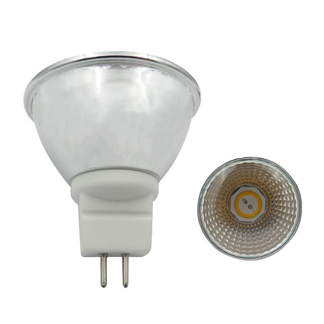 1pc 3.5w gu5.3 led lumina reflectoarelor 300-320lm 110v 220v cob led spot lampă alb cald alb